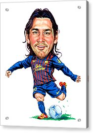 Lionel Messi Acrylic Print by Art