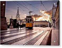 Lisbon Light Acrylic Print by Jorge Maia