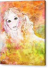 Listen To The Colour Of Your Dreams Acrylic Print by Barbara Orenya
