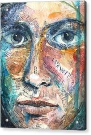 Listperson IIi Acrylic Print by Patricia Allingham Carlson