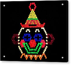 Lite Brite - The Classic Clown Acrylic Print by Benjamin Yeager
