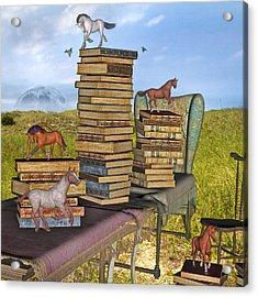 Literary Levels Acrylic Print by Betsy Knapp