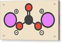 Lithium Carbonate Molecule Acrylic Print by Molekuul