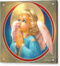 Little Angel Acrylic Print by Zorina Baldescu