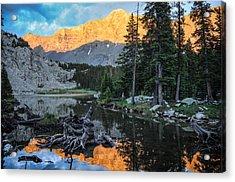 Little Bear Peak And Lake Como Acrylic Print by Aaron Spong