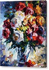 Little Bouquet Acrylic Print by Leonid Afremov