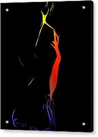 Little Cheerleader Acrylic Print by Stefan Kuhn
