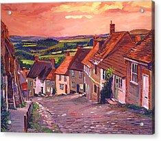 Little Country Village England Acrylic Print by David Lloyd Glover