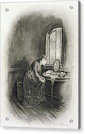 Little Dorrit, From Charles Dickens A Acrylic Print by Frederick Barnard