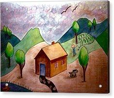 Little House On The Prairie Acrylic Print by Jo Ann
