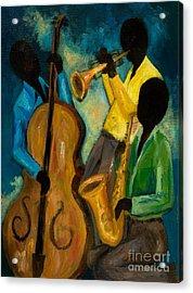Little Jazz Trio IIi Acrylic Print by Larry Martin