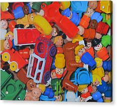 Little Peoples Acrylic Print by Joanne Grant