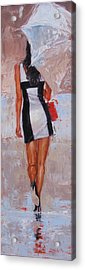 Little Red Bag Acrylic Print by Laura Lee Zanghetti