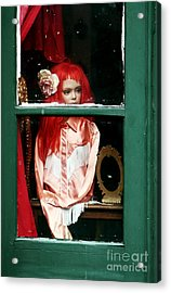 Little Red-haired Girl Acrylic Print by John Rizzuto