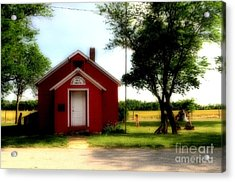 Little Red School House Acrylic Print by Kathleen Struckle