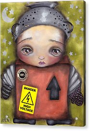 Little Robot Acrylic Print by  Abril Andrade Griffith