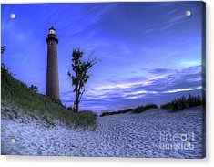 Little Sable Lighthouse In Evening Acrylic Print by Twenty Two North Photography