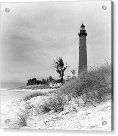 Little Sable Point Lighthouse Acrylic Print by Jeff Burton