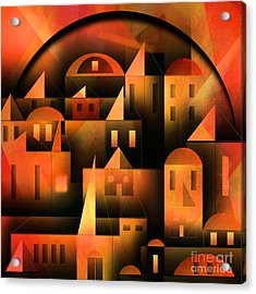 Little Shining City Acrylic Print by Franziskus Pfleghart