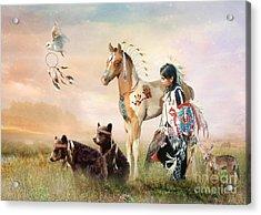 Little Warriors Acrylic Print by Trudi Simmonds