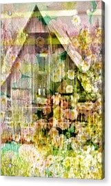 Little Witch Cottage Acrylic Print by PainterArtist FIN