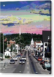 Littleton New Hampshire Acrylic Print by Charles Shoup