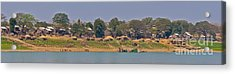 Living Along The Irrawaddy River Acrylic Print by Beth Wolff