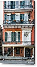 Living High In The French Quarter Acrylic Print by Steve Harrington