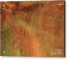 Living In A Copper World Acrylic Print by Ann Johndro-Collins