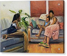 Living Room Lounge Acrylic Print by Colin Bootman