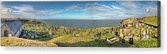 Llanbadrig Church Panorama Acrylic Print by Adrian Evans