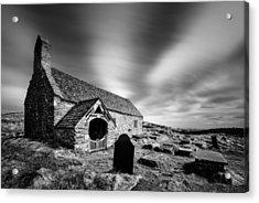 Llangelynnin Church Acrylic Print by Dave Bowman
