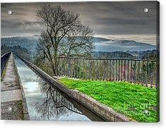 Llangollen Canal  Acrylic Print by Adrian Evans