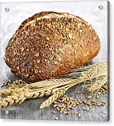 Loaf Of Multigrain Bread Acrylic Print by Elena Elisseeva