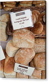 Loaves Of Organic Bread Acrylic Print by Ashley Cooper