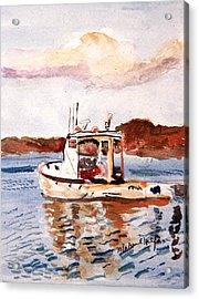 Lobster Boat Acrylic Print by Michael Helfen