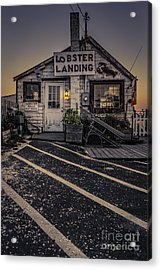 Lobster Landing Shack Restaurant At Sunset Acrylic Print by Edward Fielding