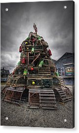Lobster Trap Tree Acrylic Print by Eric Gendron