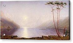 Loch Duich, Summer Moonlight Acrylic Print by William Turner