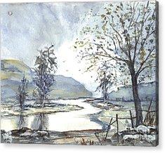 Loch Goil Scotland Acrylic Print by Carol Wisniewski