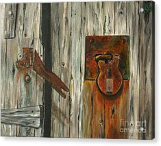 Lock Of Ages Acrylic Print by Anna-maria Dickinson