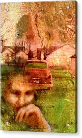 1950s Portraits Acrylic Print featuring the digital art Locked Cars And Unknown Destinations by James Huntley