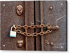 Locked Acrylic Print by Olivier Le Queinec