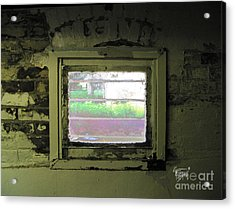 Locked Out Or Locked In  Acrylic Print by GG Burns