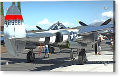 Lockheed P-38l Lightning Honey Bunny  - 09 Acrylic Print by Gregory Dyer