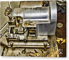 Locksmith - The Key Maker Acrylic Print by Paul Ward