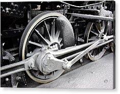 Locomotive 1095 Drive Wheels Acrylic Print by Paul Wash