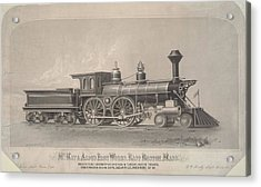 Locomotive Engines Acrylic Print by MotionAge Designs