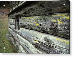 Log Cabin Side Acrylic Print by Graham Foulkes