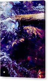 Log In River Acrylic Print by Nicole Swanger